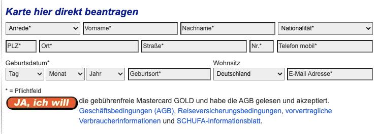 Advanzia Bank Registrieren  Gebührenfrei Kredit Karte Gold Online Registrieren
