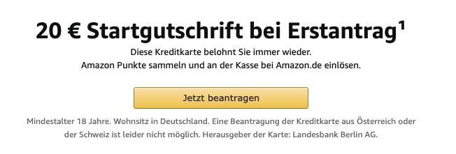 LBB Amazon visa karte