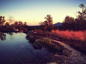 pond sunset yonah