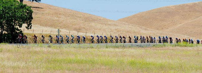 Here they come! Amgen Tour of California Bike Race 2013.