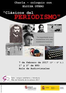 "Charla sobre ""Clásicos del periodismo"". 7-II-2017."