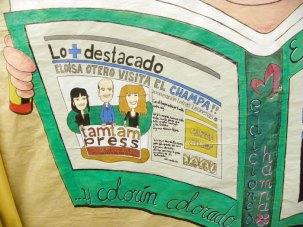XXXI Día de las Letras Leonesas. Colegio Marista Champagnat. Uno de los dibujos dedicados por los alumnos.