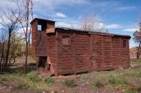 Antiguo vagón reutilizado