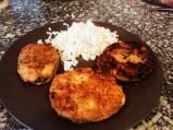 merluza rebozada con harina de soja y arroz