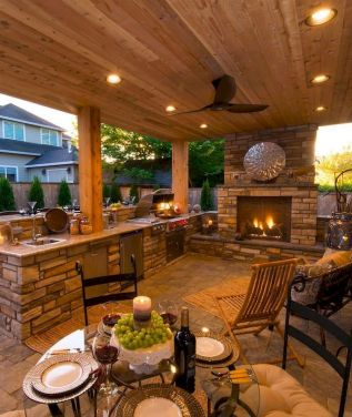 Inspiring Summer Outdoor Kitchen Ideas (26)