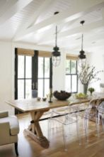 DIY Farmhouse Dining Table Inspirations from new and reclaimed woods.