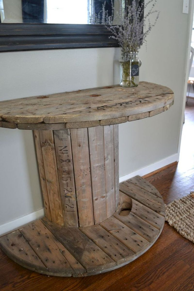 Creative Farmhouse Style Side Table Design Made From Scrap And Reclaimed Materials (16)