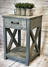 Creative Farmhouse Style Side Table Design Made From Scrap And Reclaimed Materials (34)