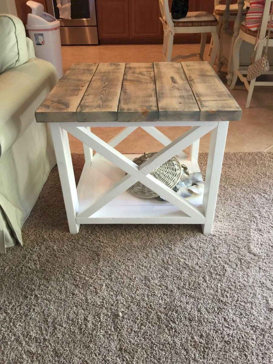 Creative Farmhouse Style Side Table Design Made From Scrap And Reclaimed Materials (46)