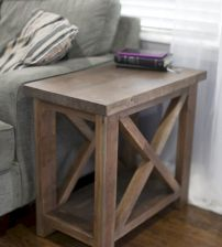 Creative Farmhouse Style Side Table Design Made From Scrap And Reclaimed Materials (49)