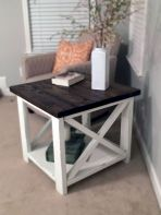 Creative Farmhouse Style Side Table Design Made From Scrap And Reclaimed Materials (55)