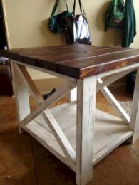 Creative Farmhouse Style Side Table Design Made From Scrap And Reclaimed Materials (61)
