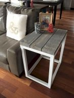Creative Farmhouse Style Side Table Design Made From Scrap And Reclaimed Materials (7)