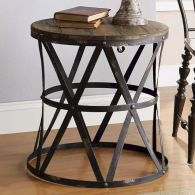 Creative Farmhouse Style Side Table Design Made From Scrap And Reclaimed Materials (8)