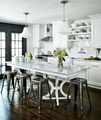 Dual purpose kitchen island that will really safe your space and extra budget as well (1)