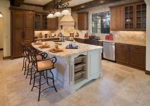 Dual purpose kitchen island that will really safe your space and extra budget as well (11)