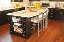 Dual purpose kitchen island that will really safe your space and extra budget as well (32)