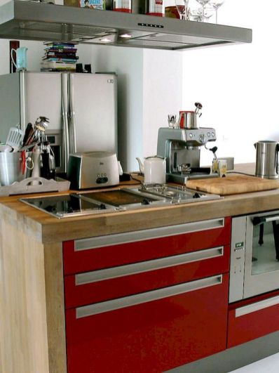 Dual purpose kitchen island that will really safe your space and extra budget as well (39)