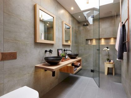 Easy Bathroom Makeover Inspirations with Cheap Decoration and Accessories Part 38