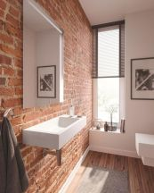Easy Bathroom Makeover Inspirations with Cheap Decoration and Accessories Part 39