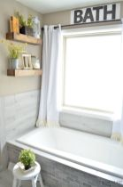 Easy Bathroom Makeover Inspirations with Cheap Decoration and Accessories Part 59