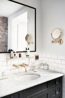 Easy Bathroom Makeover Inspirations with Cheap Decoration and Accessories Part 61