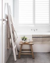 Easy Bathroom Makeover Inspirations with Cheap Decoration and Accessories Part 64