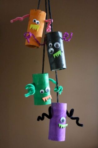 Easy Halloween Crafts and DIY halloween decoration for kids and toddler Part 82