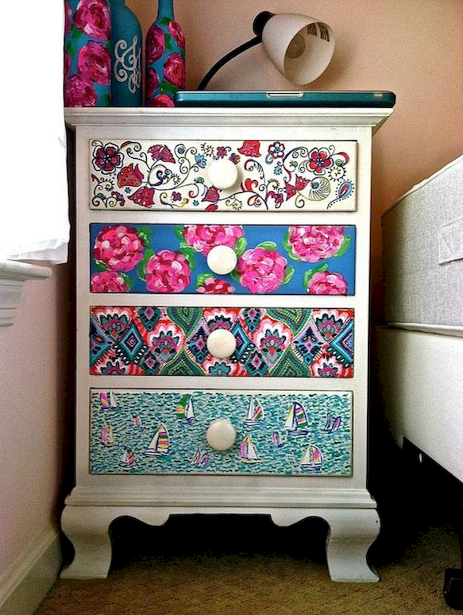 Easy tricks for Nightstand makeover ideas that will makeup the bedroom design Part 21