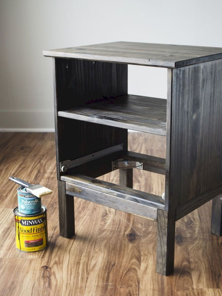 Easy tricks for Nightstand makeover ideas that will makeup the bedroom design Part 35