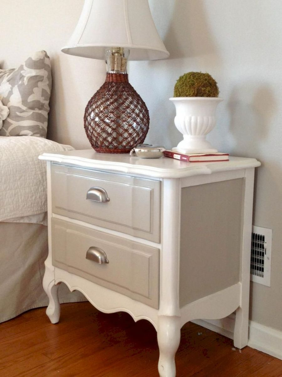Easy tricks for Nightstand makeover ideas that will makeup the bedroom design Part 62