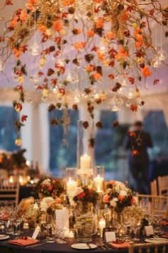 Fall wedding decoration idea with inspiring autumn decoration and fall flowers design Part 34