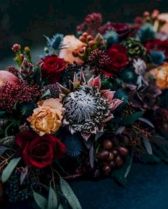 Fall wedding decoration idea with inspiring autumn decoration and fall flowers design Part 7