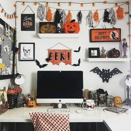 Inspiring Decoration Ideas of Halloween Cubical Office (36)