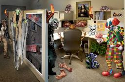 Inspiring Decoration Ideas of Halloween Cubical Office (58)