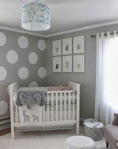 Modern Baby Nursery Rooms Ideas with Simple and Colorful Concepts with Pattern and Unique Baby Crib Design Part 11