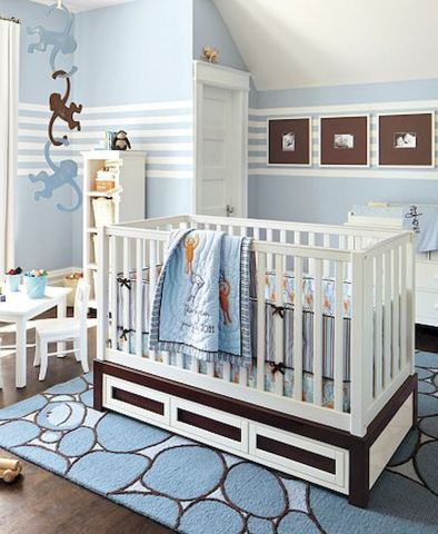Modern Baby Nursery Rooms Ideas with Simple and Colorful Concepts with Pattern and Unique Baby Crib Design Part 17