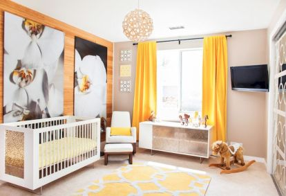 Modern Baby Nursery Rooms Ideas with Simple and Colorful Concepts with Pattern and Unique Baby Crib Design Part 21