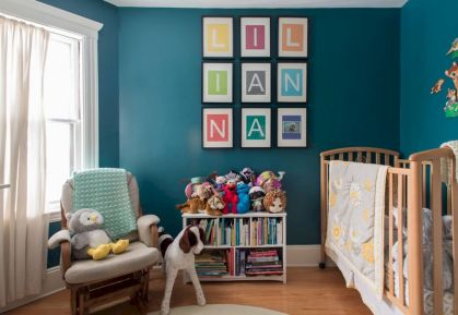 Modern Baby Nursery Rooms Ideas with Simple and Colorful Concepts with Pattern and Unique Baby Crib Design Part 23