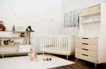 Modern Baby Nursery Rooms Ideas with Simple and Colorful Concepts with Pattern and Unique Baby Crib Design Part 25