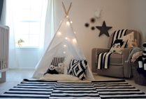 Modern Baby Nursery Rooms Ideas with Simple and Colorful Concepts with Pattern and Unique Baby Crib Design Part 44
