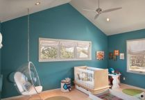 Modern Baby Nursery Rooms Ideas with Simple and Colorful Concepts with Pattern and Unique Baby Crib Design Part 45