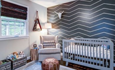 Modern Baby Nursery Rooms Ideas with Simple and Colorful Concepts with Pattern and Unique Baby Crib Design Part 47