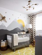 Modern Baby Nursery Rooms Ideas with Simple and Colorful Concepts with Pattern and Unique Baby Crib Design Part 48