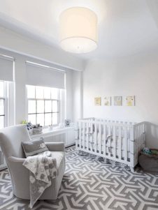 Modern Baby Nursery Rooms Ideas with Simple and Colorful Concepts with Pattern and Unique Baby Crib Design Part 54
