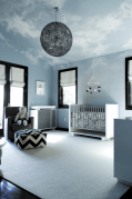 Modern Baby Nursery Rooms Ideas with Simple and Colorful Concepts with Pattern and Unique Baby Crib Design Part 64