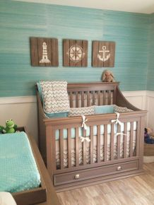 Modern Baby Nursery Rooms Ideas with Simple and Colorful Concepts with Pattern and Unique Baby Crib Design Part 67