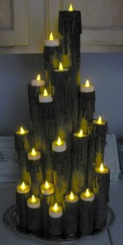 Mystical Halloween Lighting Ideas with Spellbinding candle and light string effect Part 20
