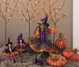 Mystical Halloween Lighting Ideas with Spellbinding candle and light string effect Part 24