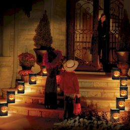 Mystical Halloween Lighting Ideas with Spellbinding candle and light string effect Part 33